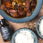 Chicken adobo and rice | Mini Pinoy Grill - All Purpose Marinade | Filipino Barbecue Marinade