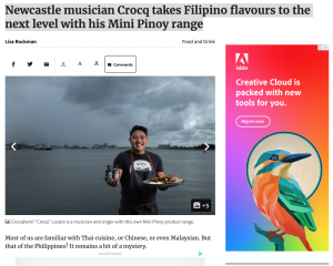 Newcastle musician Crocq takes Filipino flavours to the next level with his Mini Pinoy range - Newcastle Herald